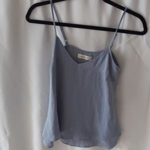 Blue silky Abercrombie and Fitch tank top